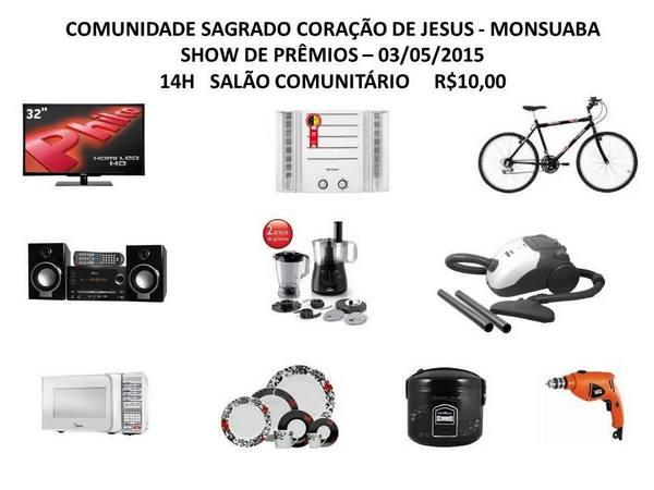 Show de Prêmios da Comunidade do Sagrado Coração de Jesus – Monsuaba