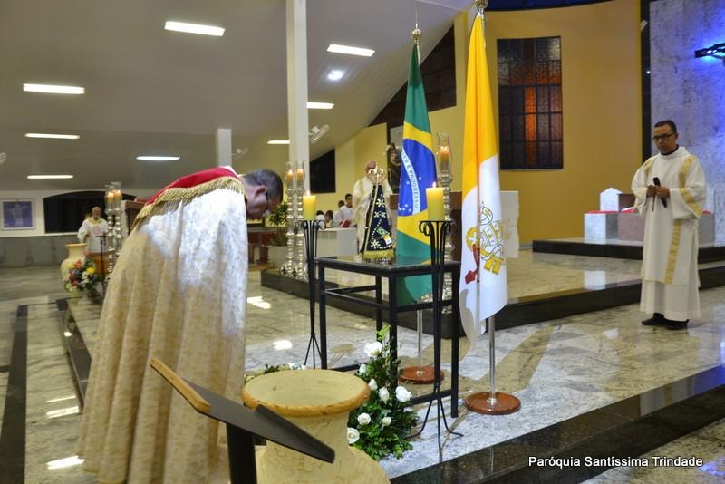 4° Dia da visita da Imagem Peregrina de Nossa Senhora Aparecida em nossa Paróquia e Adoração ao Santíssimo Sacramento