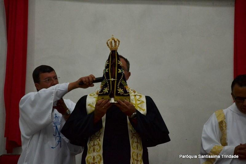 6° Dia da visita da Imagem Peregrina de Nossa Senhora de Aparecida em nossa Paróquia, Terço Solene e Entrega da Imagem a Paróquia do Balneário.