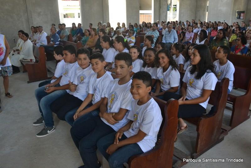 Entrega das Lembranças da 1° Eucaristia Comunidade do Sagrado Coração de Jesus Monsuaba