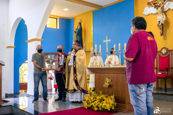 Benção da nova imagem da Santíssima Trindade – 25Abr2021 – Matriz